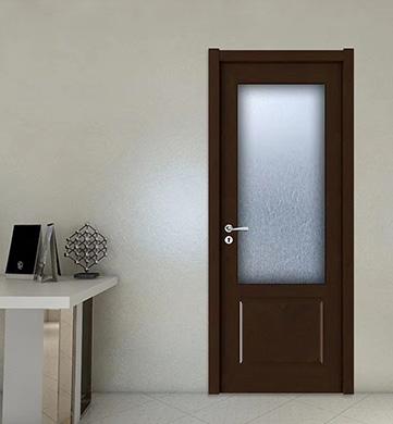 定南实木玻璃门安装